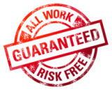 All our work carries a 100% satisfaction guarantee
